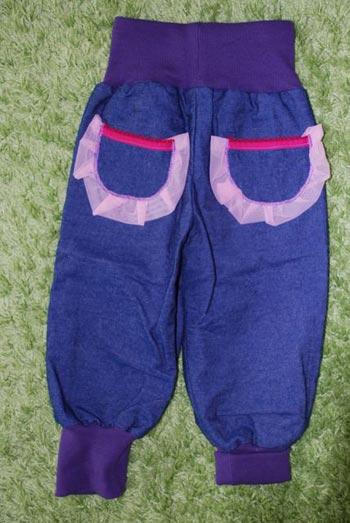 Jeans-Violett-back
